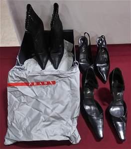 2 pair PRADA Shoes size 35 1/2 1 pair PRADA Boot 35 1/2
