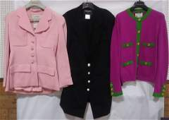 3 piece Chanel blazers and 1 cardigan sweater