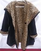 Marvin Richard faux fur cheetah and black reversible