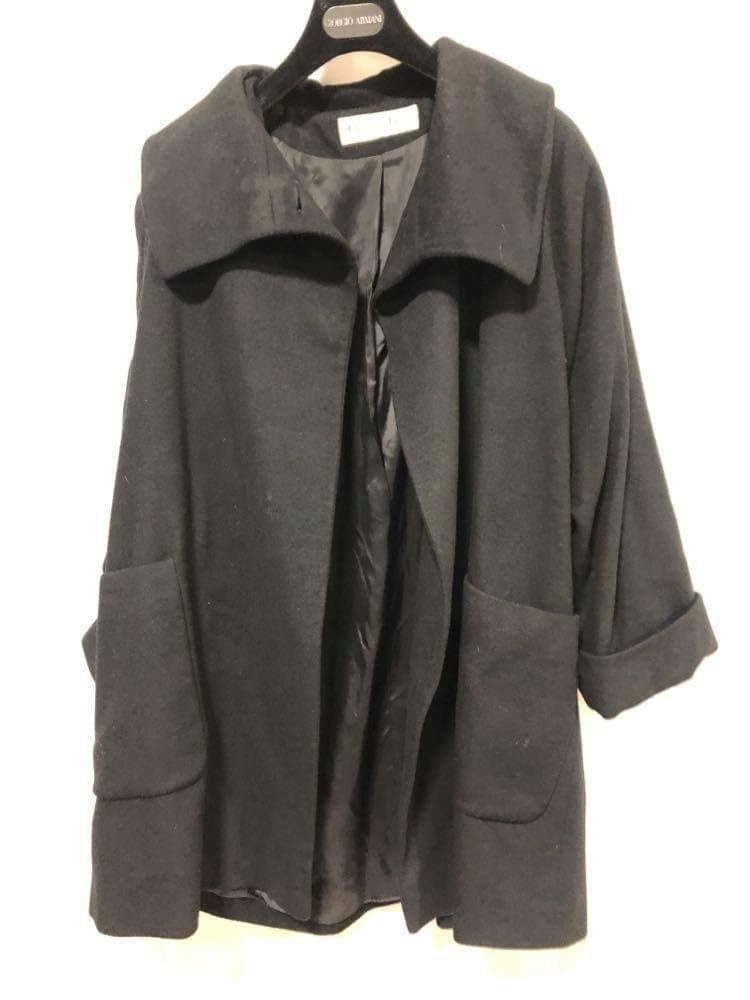 Christian Dior black Wool coat size 42