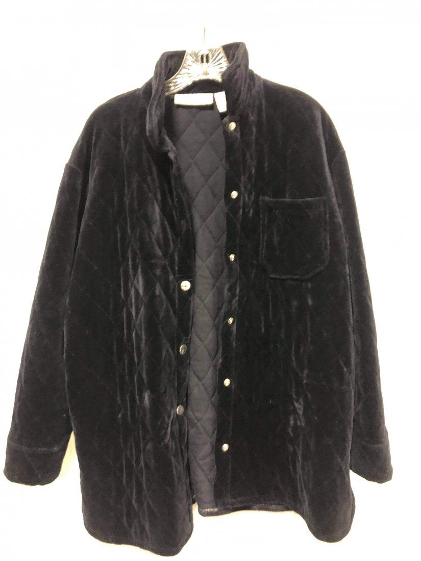 Chaus Sport Black Quilted Coat size Medium