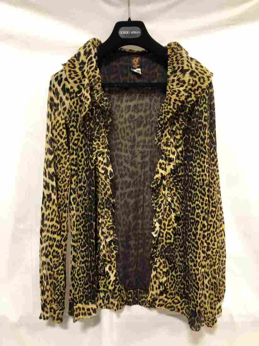 Jean Paul Guallitter animal print jacket Large