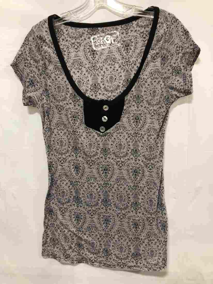 Erge SS shirt black print size small