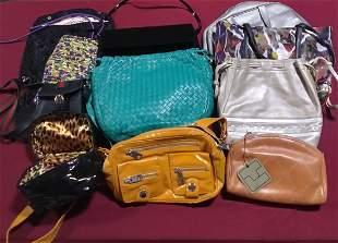 Lot of 11 handbags etc Gucci, Bottega Veneta etc