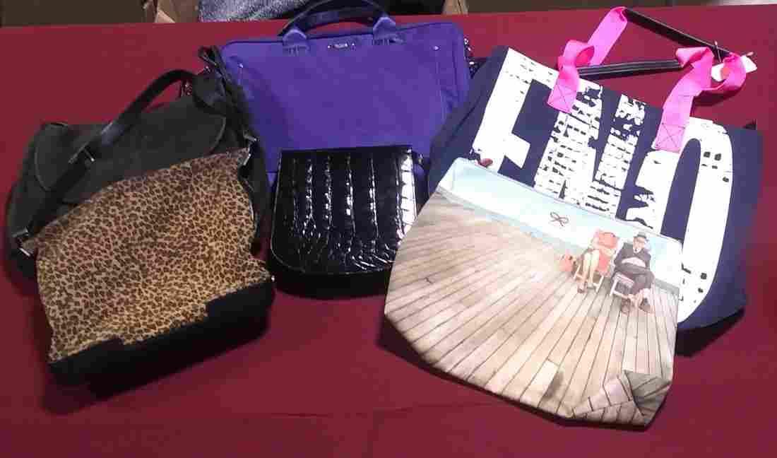 6 assorted purses