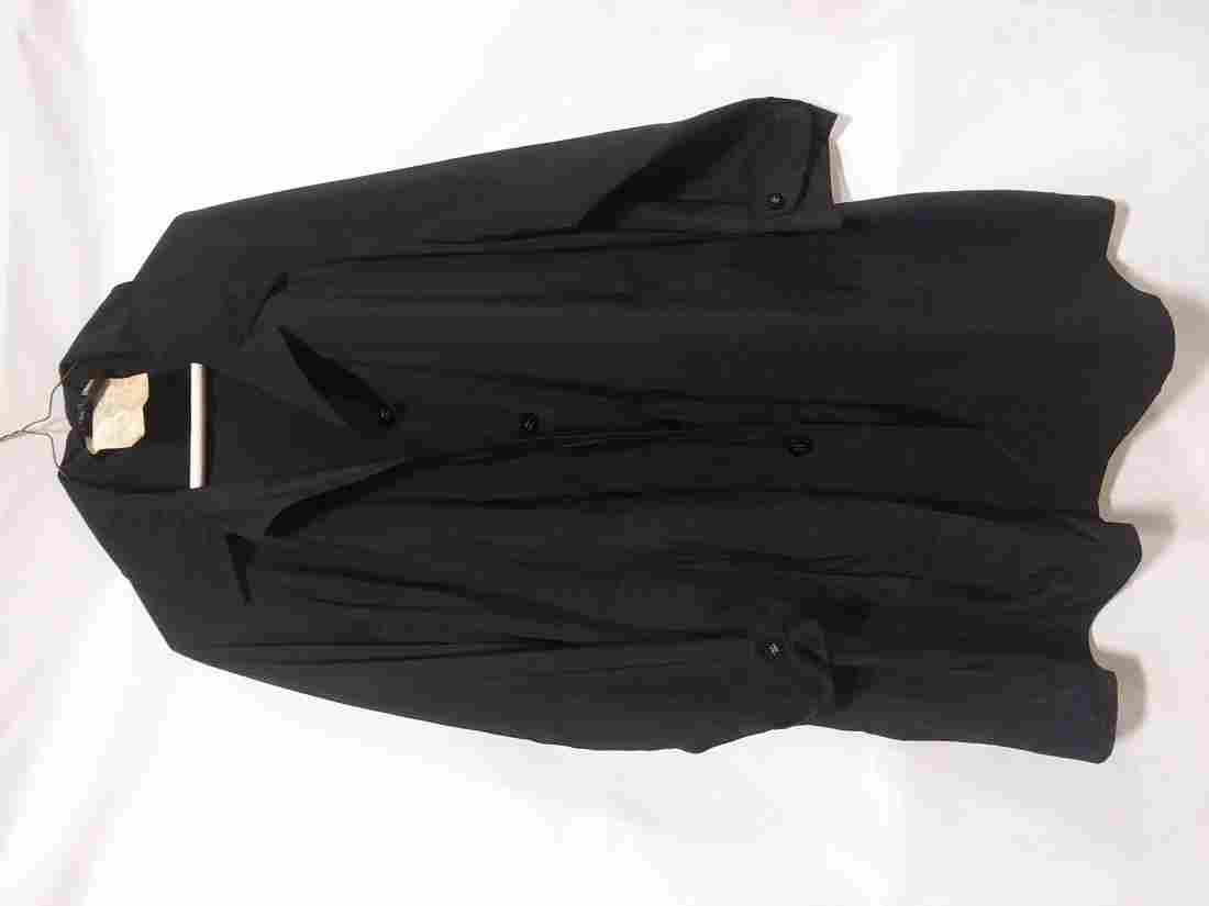 Chanel raincoat black size 36