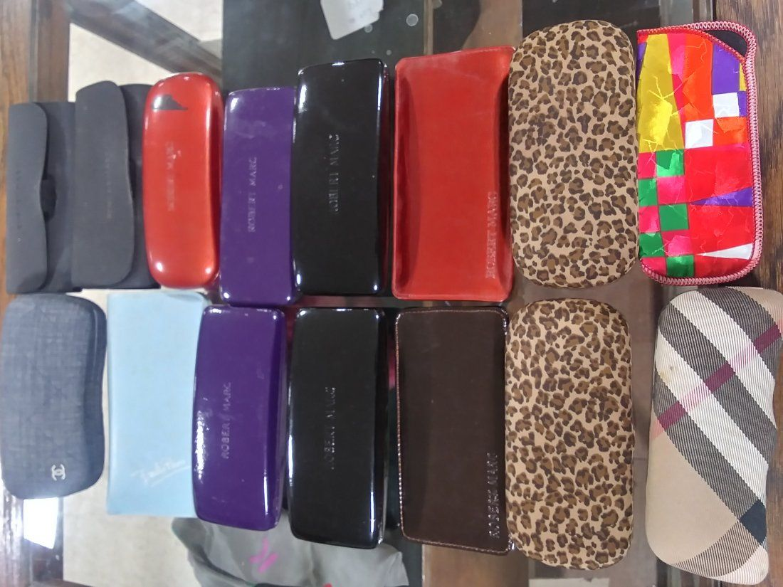 15 glasses cases Robert Marc, Chanel etc