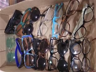16 pairs of various glasses/sunglasses