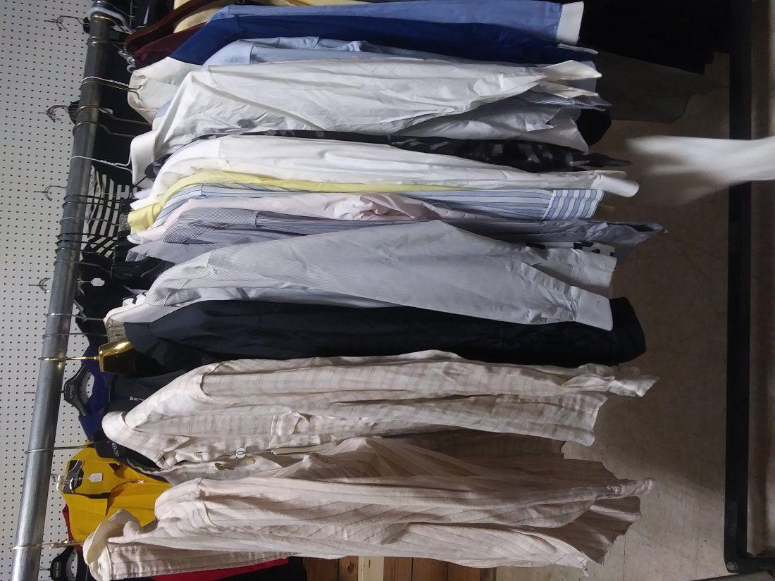 18 men's dress shirts medium/ large some new