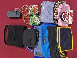 Lot of 13 miscellaneous bags various makers