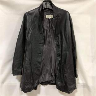 Bergdorf Goodman black leather jacket