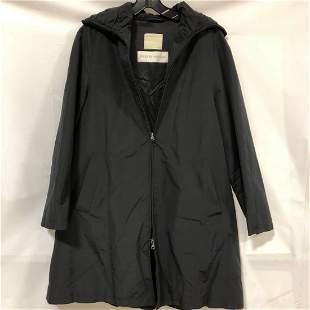 Philippo Chiesa black zip up raincoat size unknown