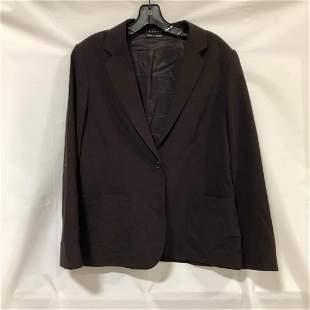 Theory black one-button blazer size L Bergdorf Goodman