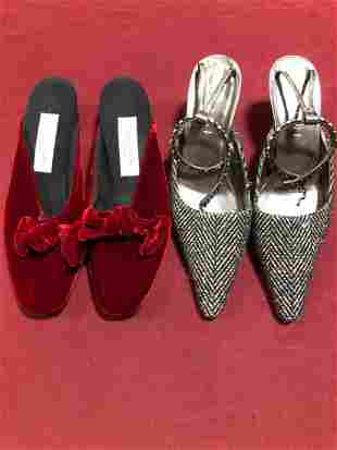 Two pair of shoes Amy Jo Gladstone and Vicini