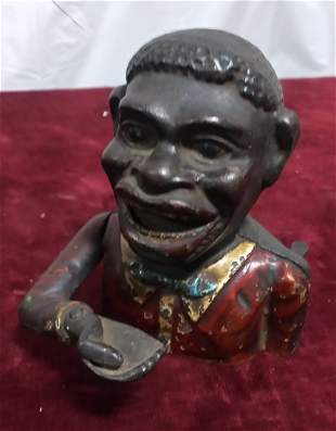 Ethnic mechanical bank in original paint