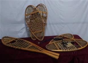 3 pairs of Faber Elk Gut Snowshoes