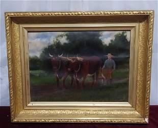 19th C Oil on Canvas by Gardner Arnold Reckard