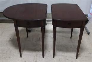 Pair of Mahogany inlaid Pembroke style tables