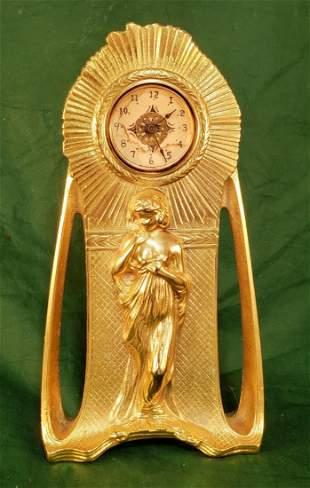 Art Nouveau Clock circa 1925 13in