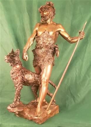 Marcel Debut Large Bronze Statue 31in