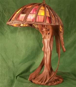 Bronze Leaded Lamp 19in