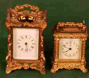 Pair of French Carriage Clocks 5in, 4in