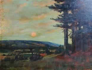 Edward M. Hawkins 1926 Is oil board painting 30in x 23