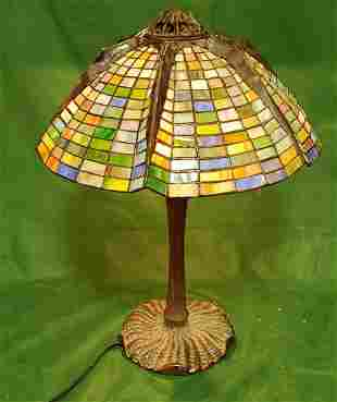Well done Leaded Table Lamp 21in