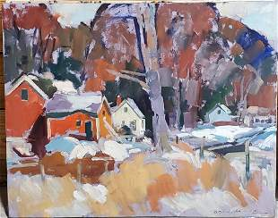 Charles Movalli signed Oil on canvas 30in x 24in