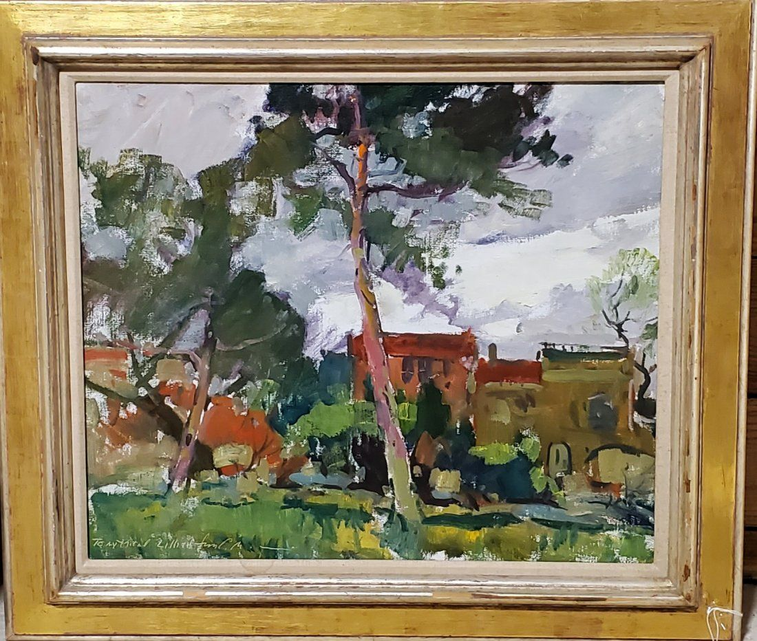 Charles Movalli signed Oil on canvas 26in x 22in