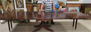 12' A. H. Davenport Mahogany Dining room Table 6 leaves