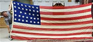 "Civil War era linen American Flag 14' 1""X6' 7"" 34 Stars"