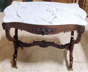 """Victorian Marble top table 36"""" by 29"""""""