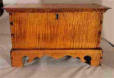 Circa 1850 J R Courtney Penn Miniature hope chest