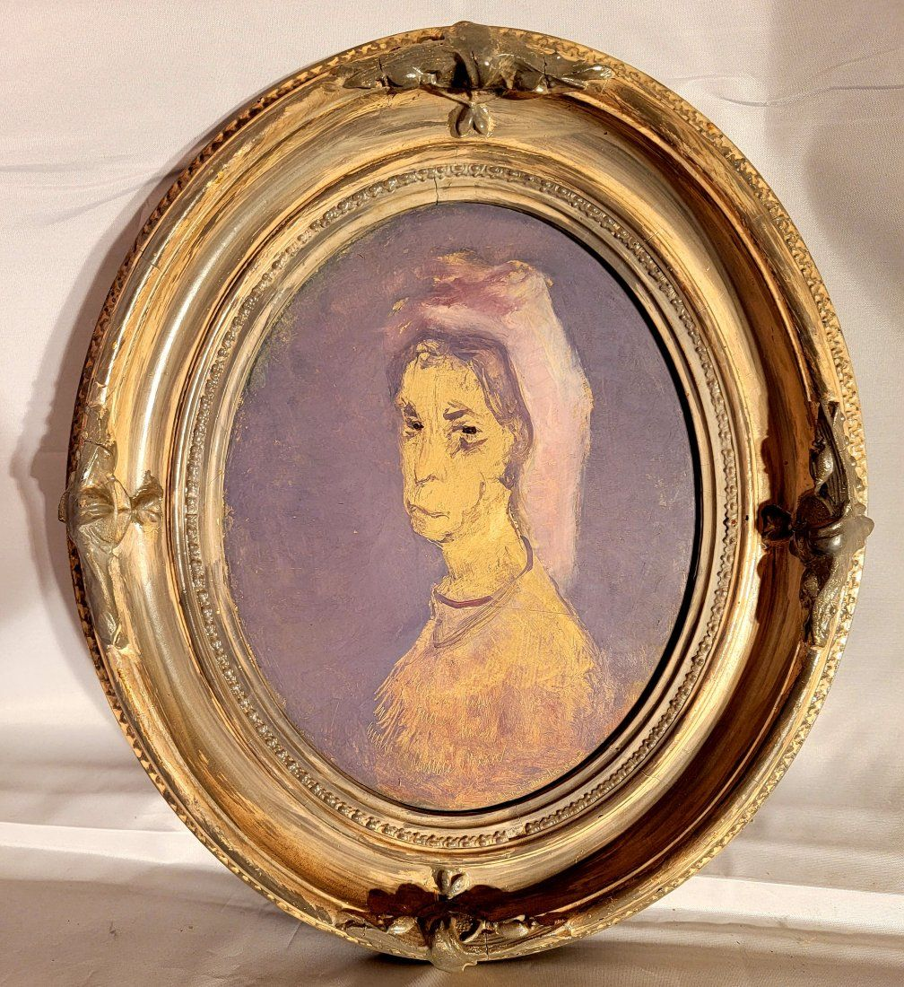 Ludvick Durchanek signed Oil on Board of Woman