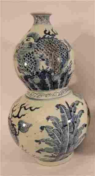 2 Large Oriental Vases in similar patterns
