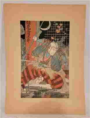 Kunisada I woodblock beautifully colored
