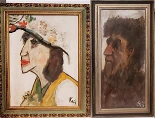 Lot 2 Paintings by San Francisco Artist Frank Koci