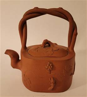 Yixing Teapot with 3D animal designs squirrels?