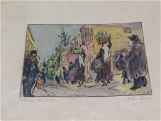 Milein Cosman 19212017 street scene coloured