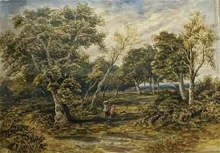 19th century British School, a landscape study,
