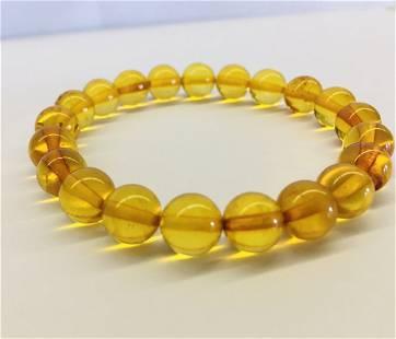 Yellow Baltic amber bracelet