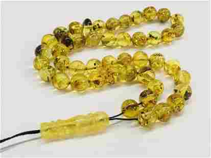 Beautiful Baltic amber Islamic prayer beads