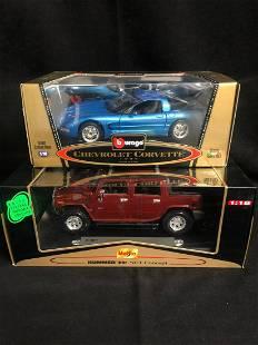 118 SCALE DIECAST CAR LOT BURAGO CHEVY CORVETTE
