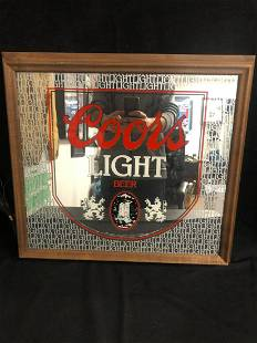 Coors Light Beer Framed Mirror Sign 19 X15