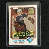 ANDY MOOG SIGNED 2002 TOPPS ARCHIVES HOCKEY CARD