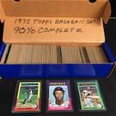 1975 TOPPS BASEBALL CARD SET (90% COMPLETE)