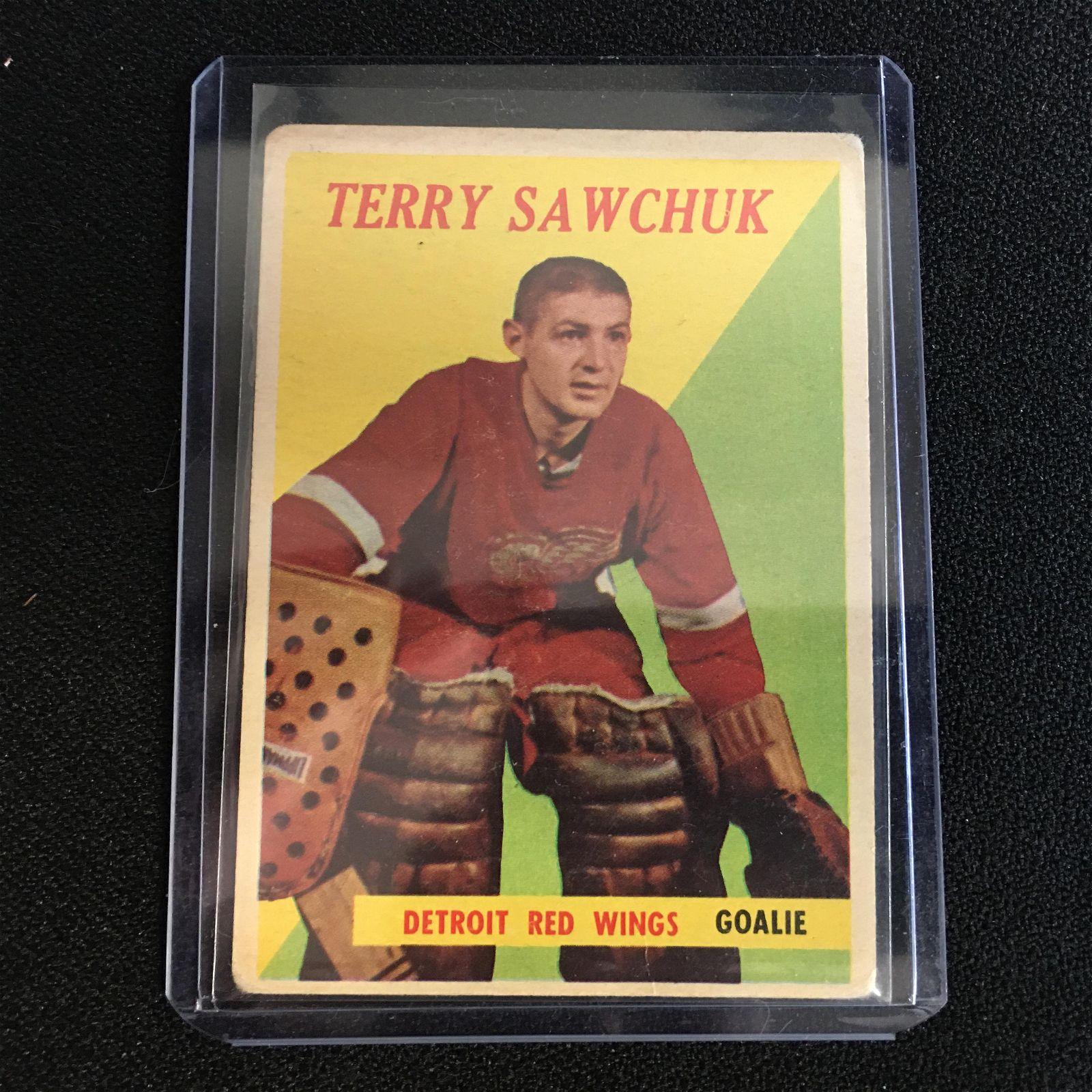 1958-59 TOPPS NO. 2 TERRY SAWCHUK