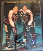 JEREMY ROENICK  LUC ROBITAILLE SIGNED 8X10 PHOTO