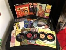 VINYL RECORDS LOT LPs 45s